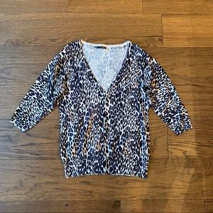 Maurices Button Front Leopard Cardigan